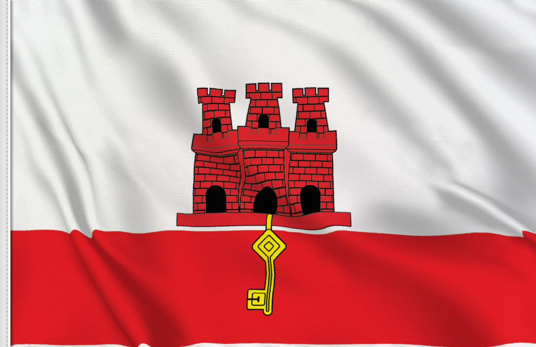 flag sticker of Gibraltar