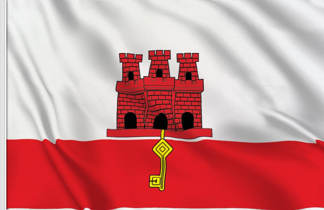 Flag sticker of Gibraltar