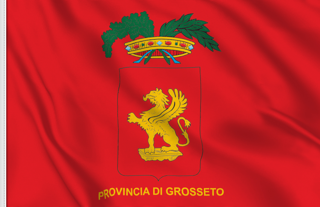 fahne Grosseto Provinz, flagge von Grosseto