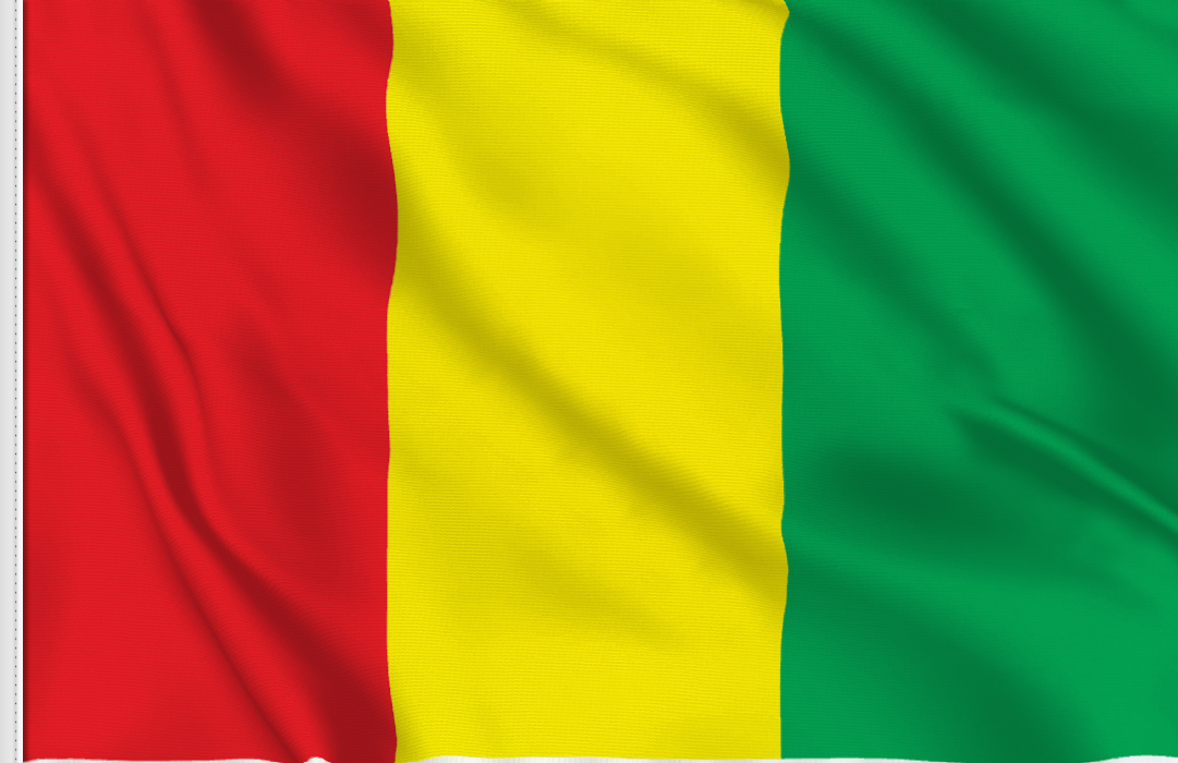 Guinea table flag