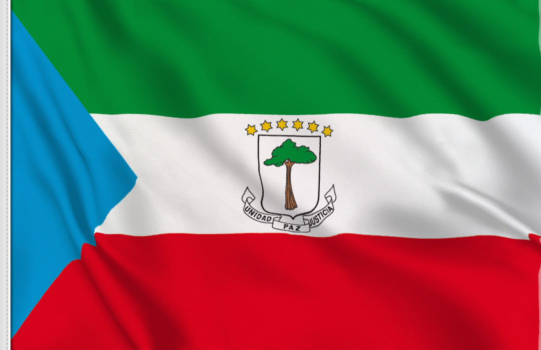 flag sticker of Equatorial Guinea