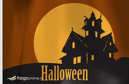 fahne Spukhaus, flagge von Halloween