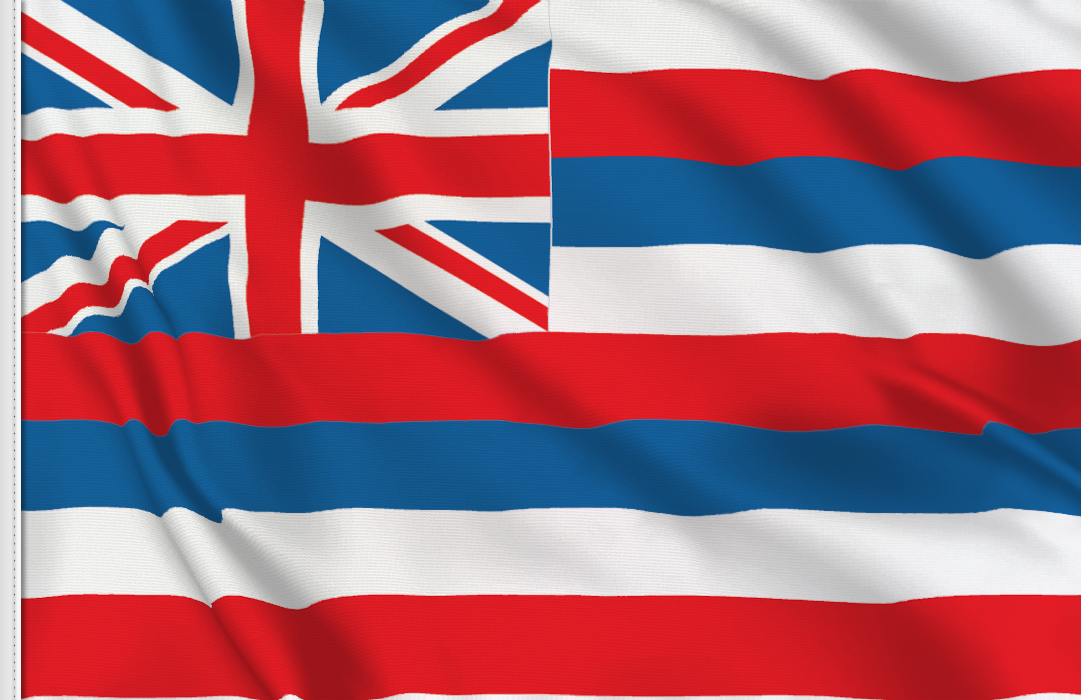 Flag sticker of Hawaii