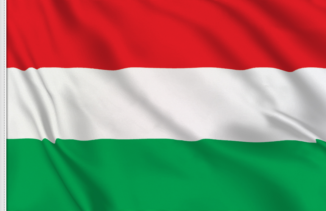 Flag sticker of Hungary