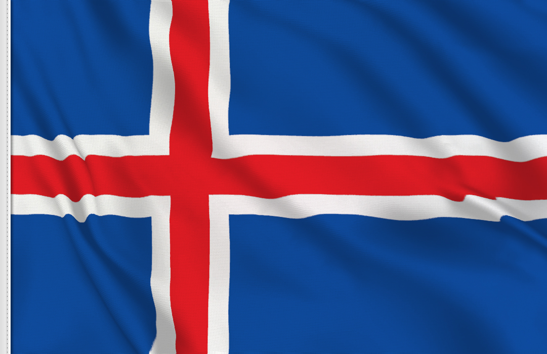 flag sticker of Iceland