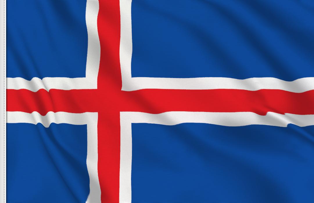 Bandiera Adesiva Islanda