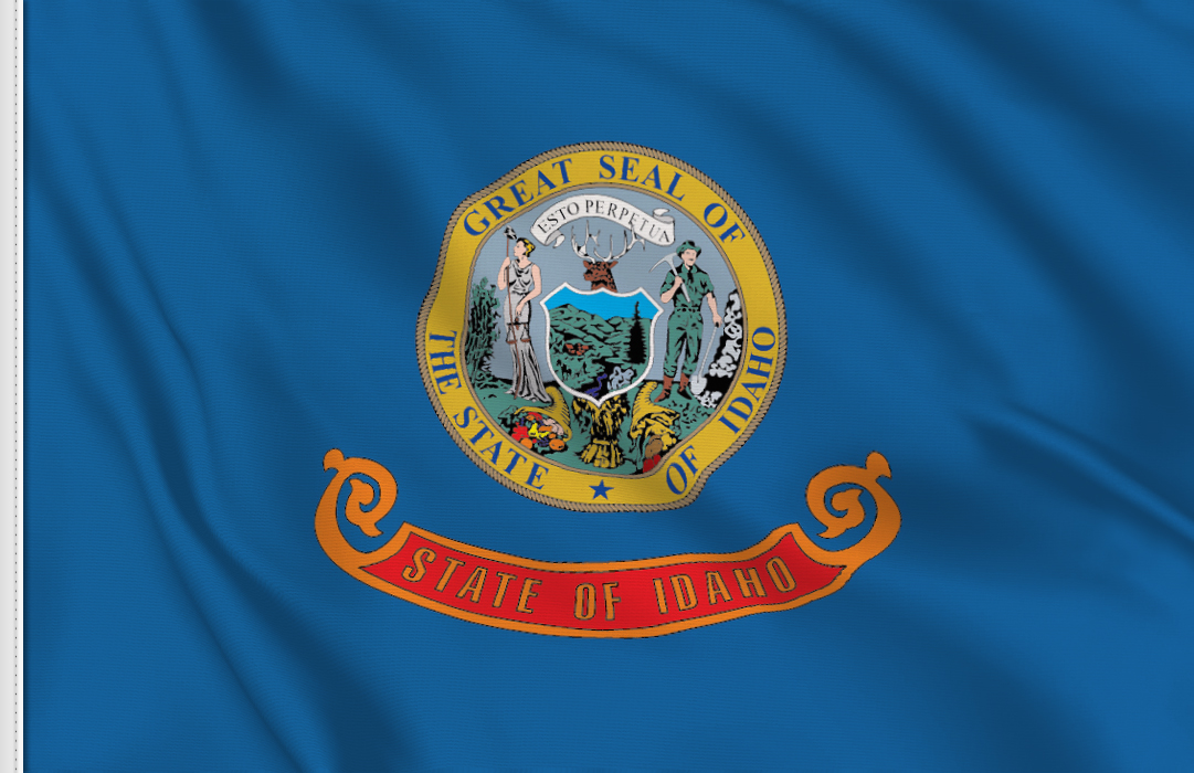 Flag sticker of Idaho