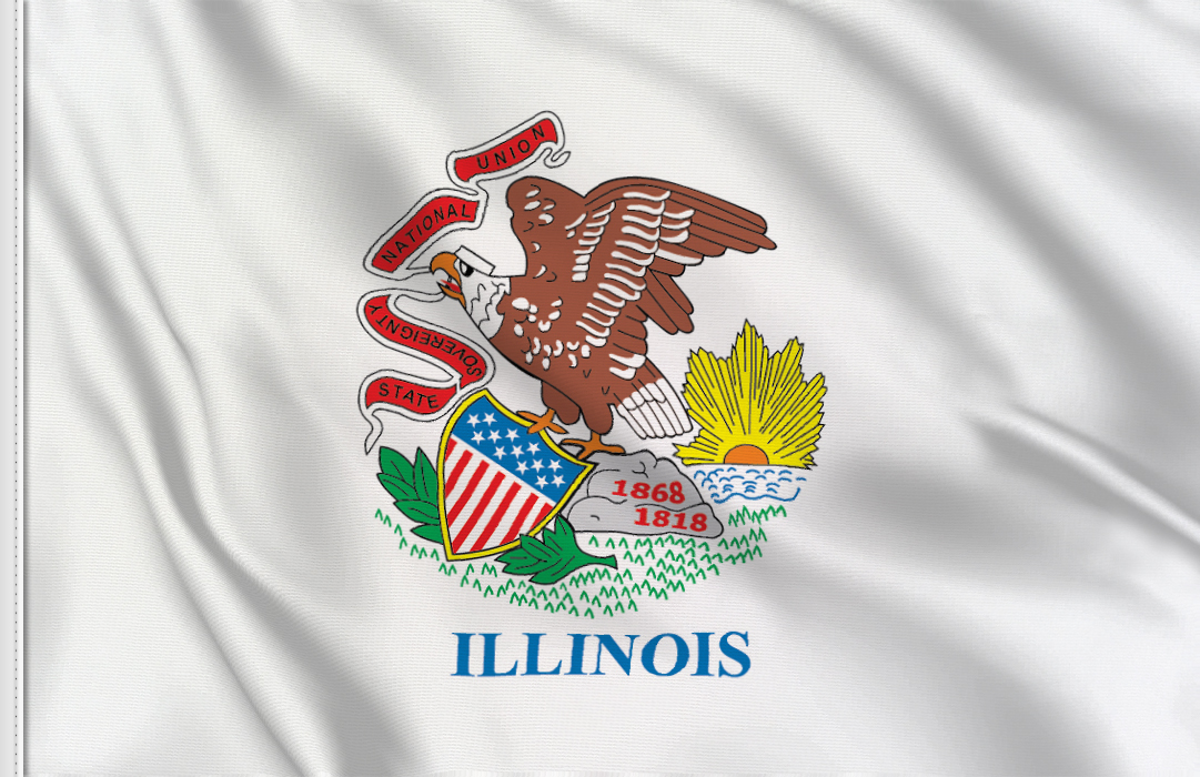 flag sticker of Illinois