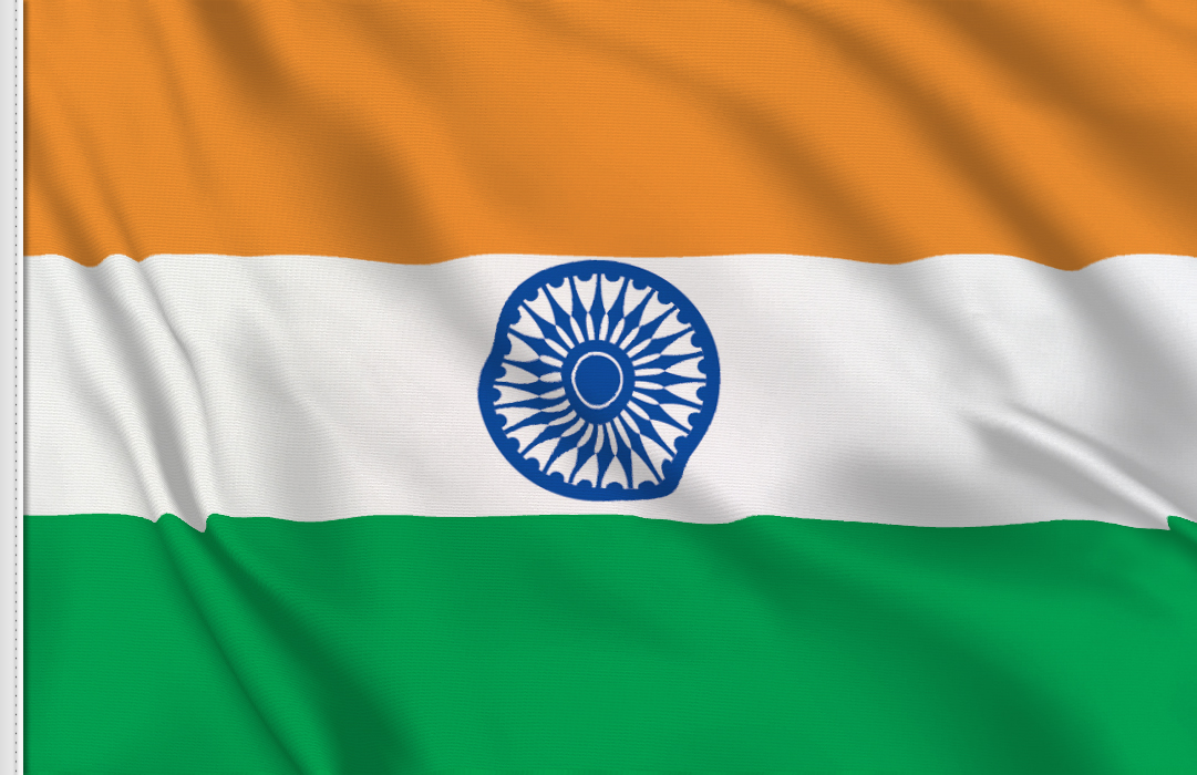 bandera adhesiva India