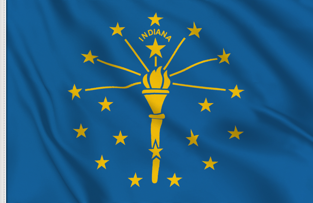 flag sticker of Indiana