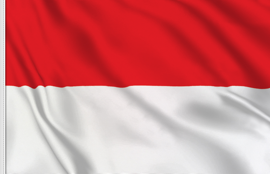 flag sticker of Indonesia