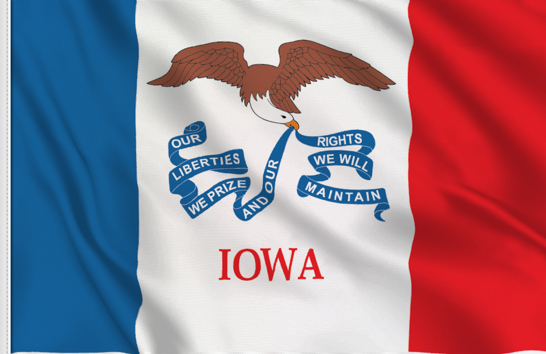 Flag sticker of Iowa
