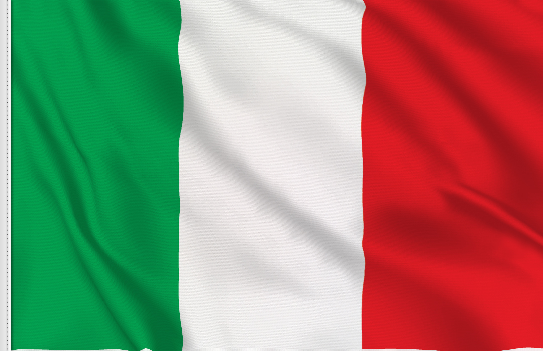 Flag sticker of Italy