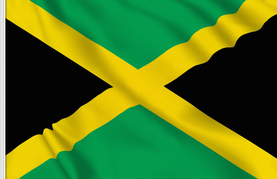 drapeau adhesif Jamaique