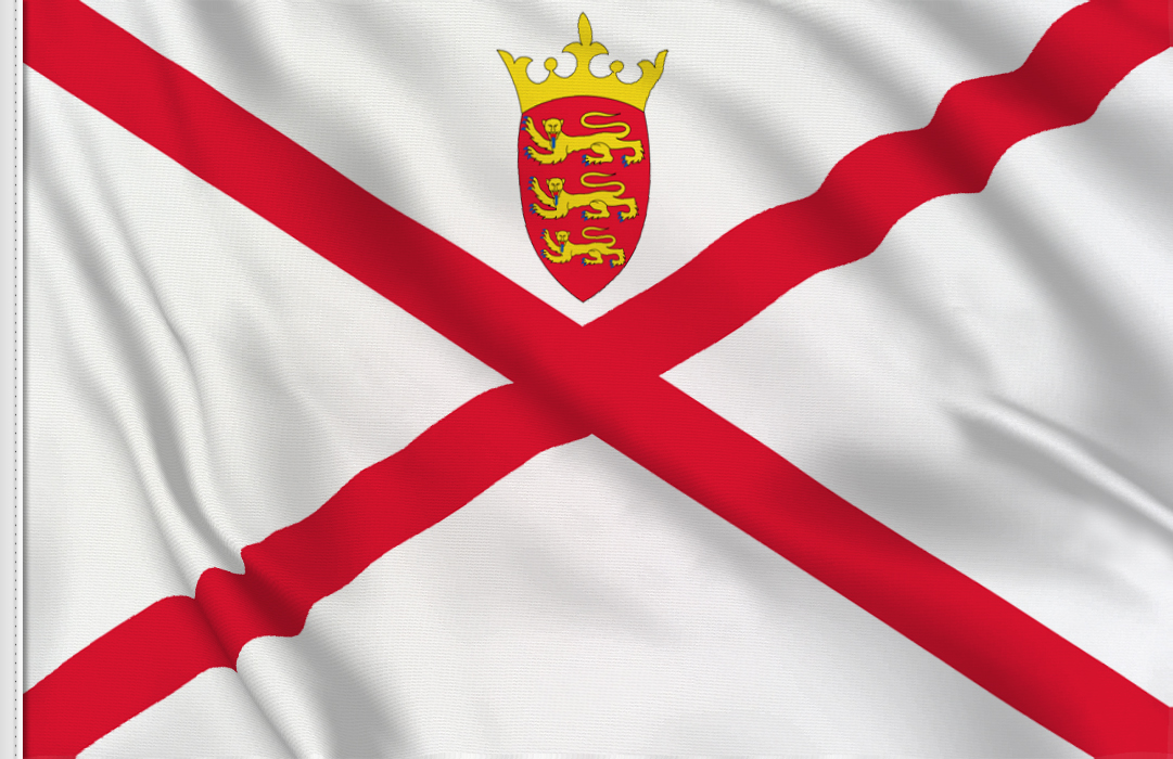 Flag sticker of Jersey