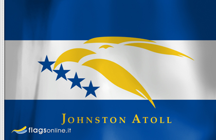 fahne Johnston-Atoll, flagge von Johnston