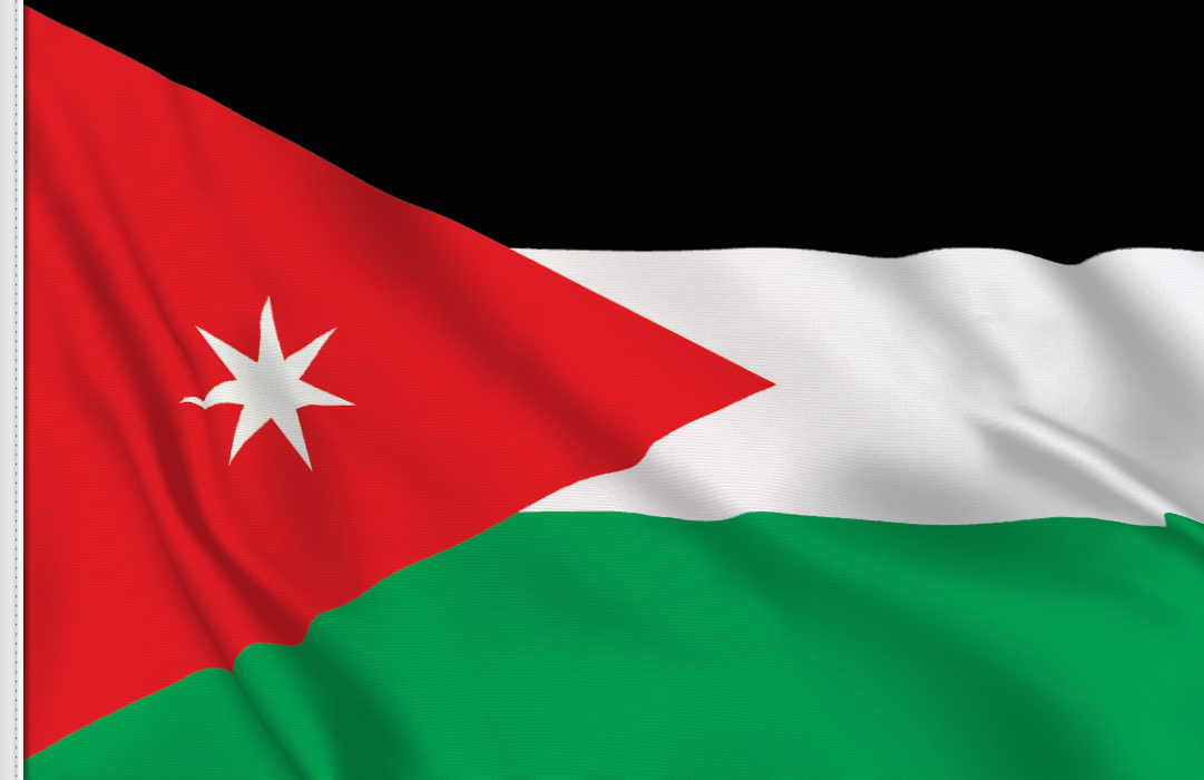 Flag sticker of Jordan