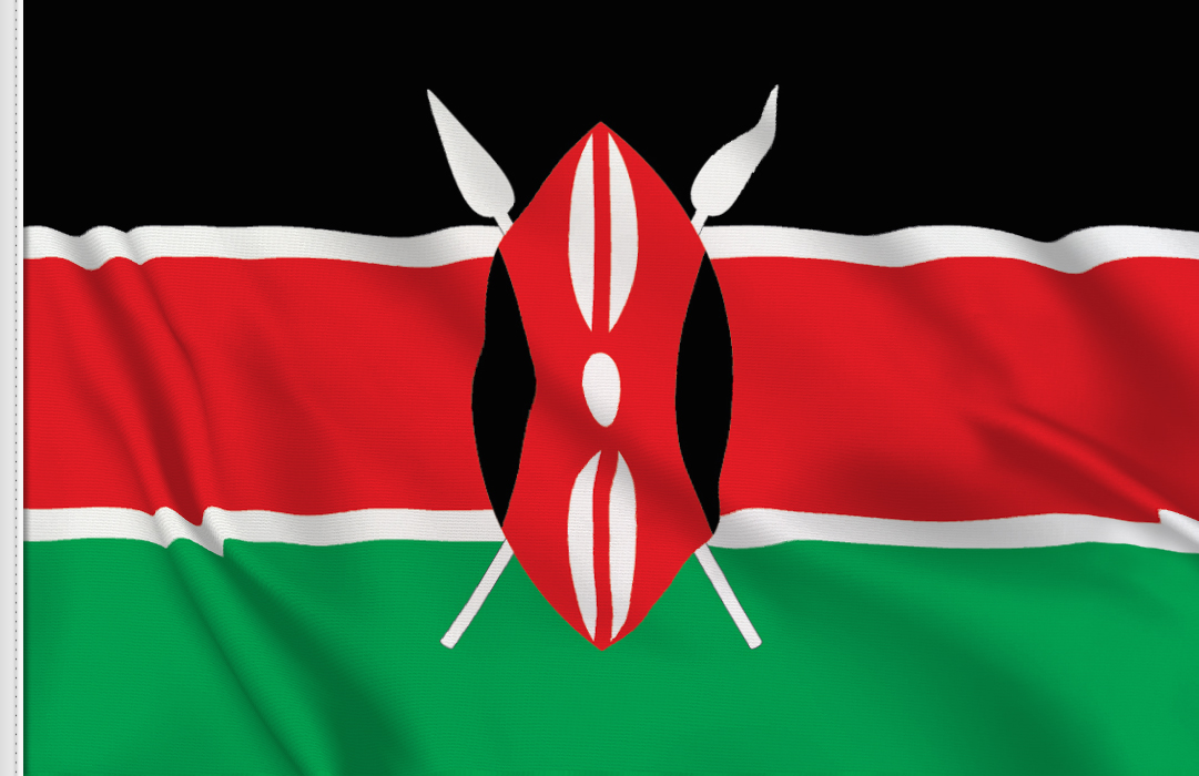 flag sticker of Kenya