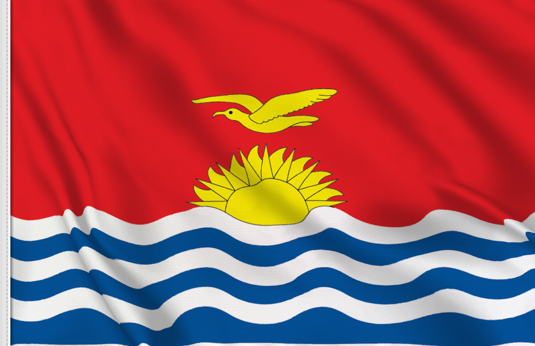 Flag sticker of Kiribati