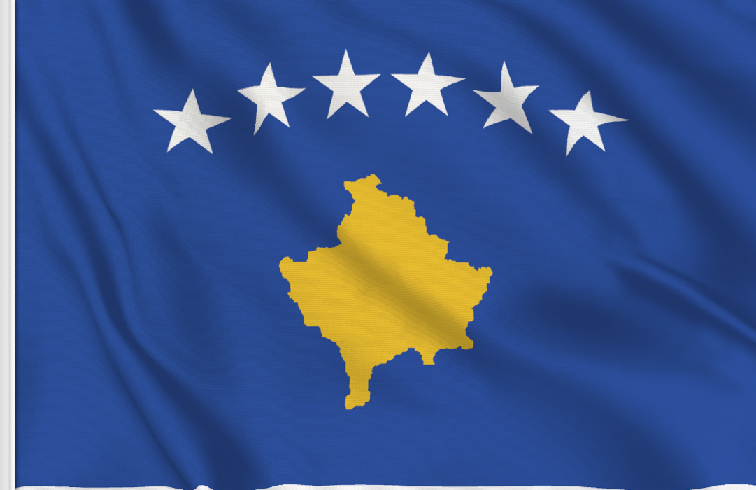 flag sticker of Kosovo