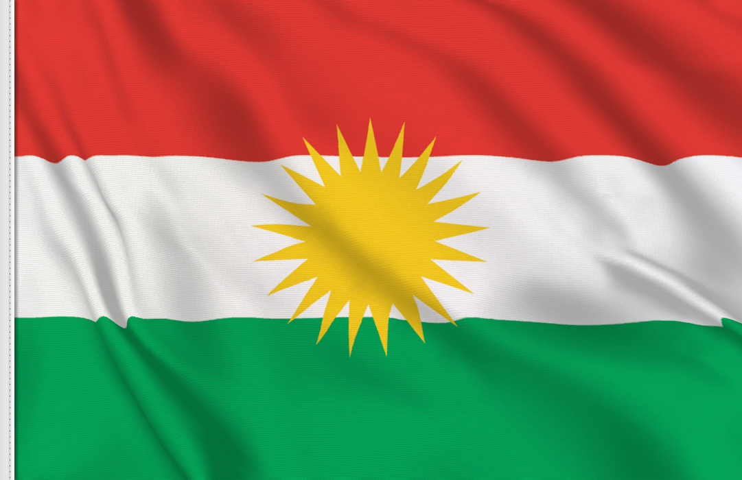Kurdistan aufkleber fahne