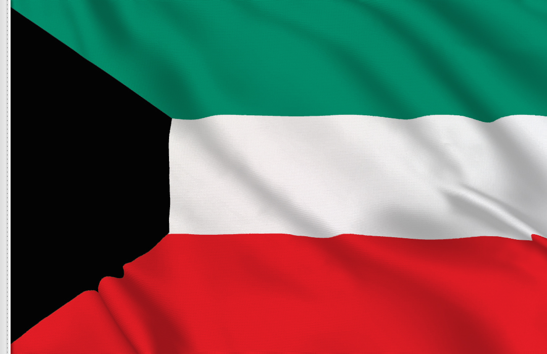 Flag sticker of Kuwait