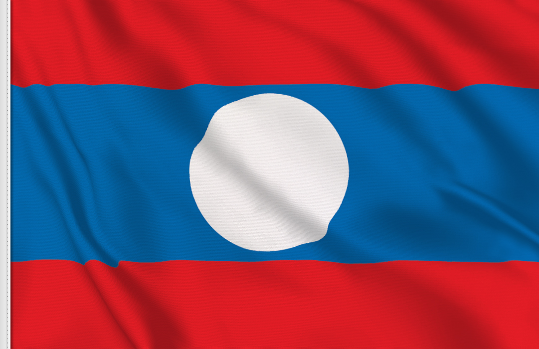 flag sticker of Laos