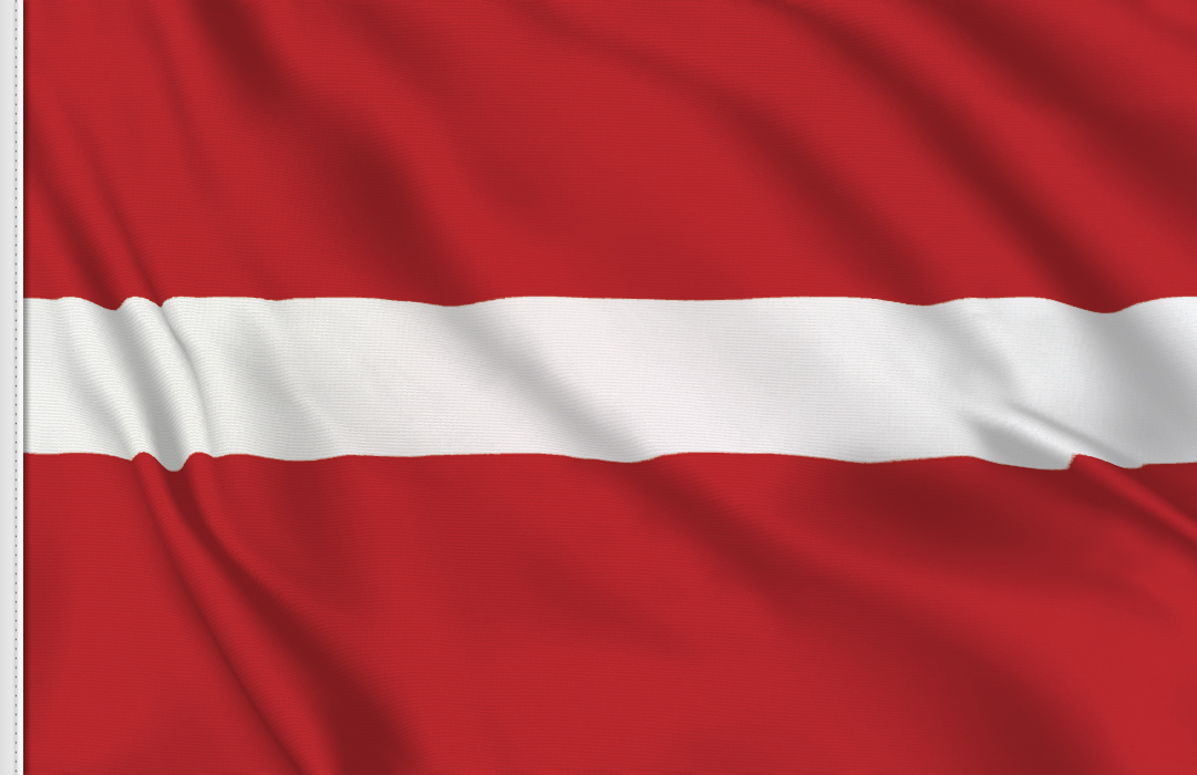 flag sticker of Latvia