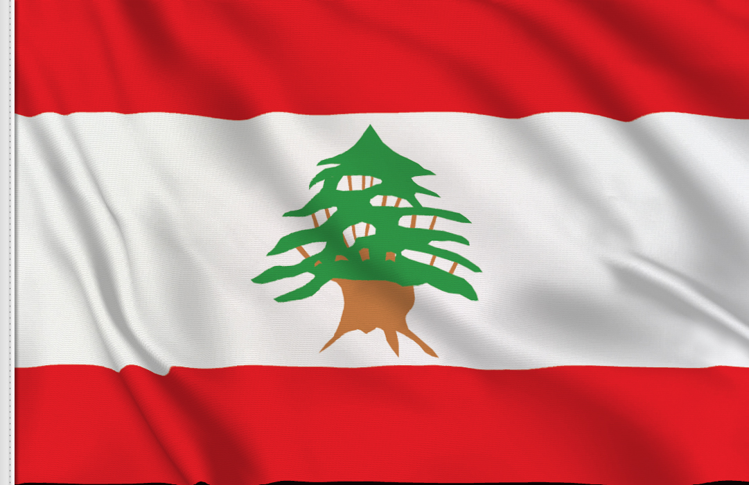 bandera de mesa de Libano