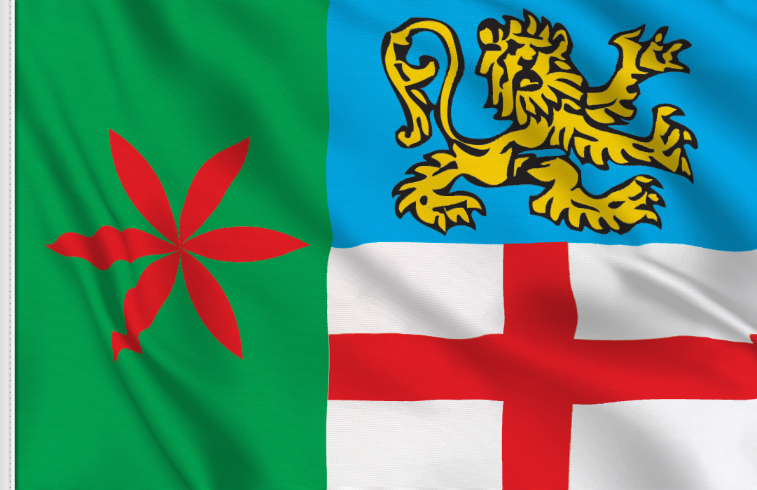 fahne Lecco Provinz, flagge von Lecco