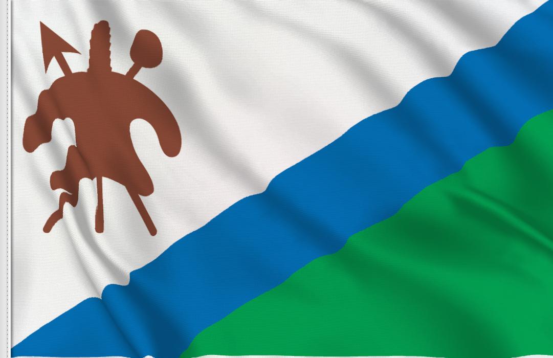 flag sticker of Lesotho