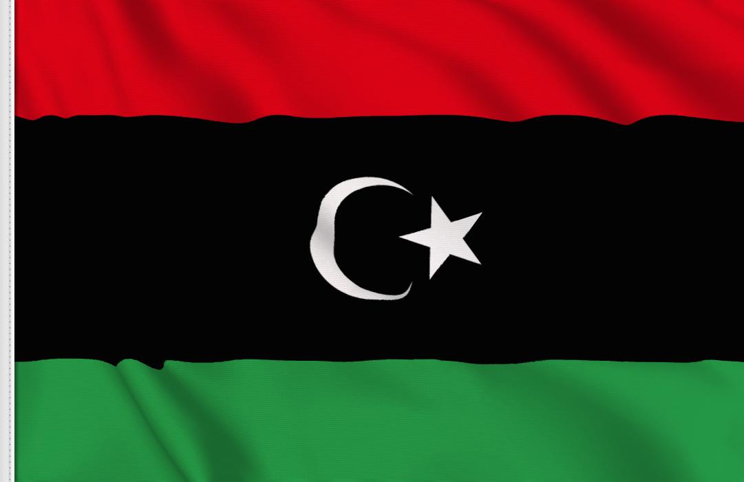 flag sticker of Libya