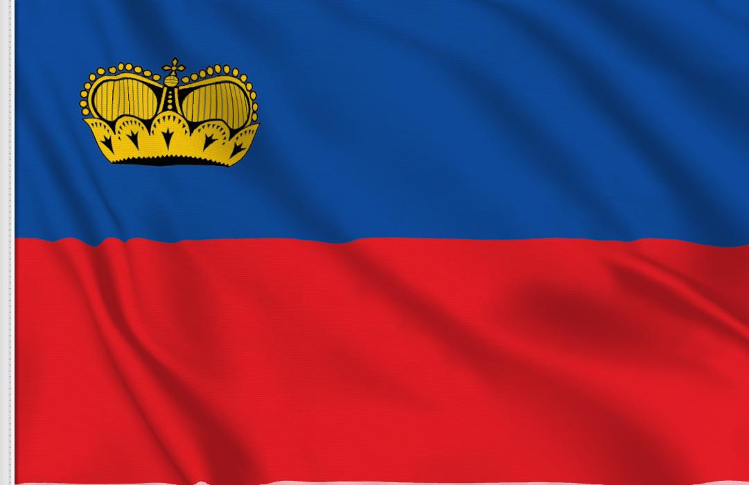 Flag sticker of Liechtenstein