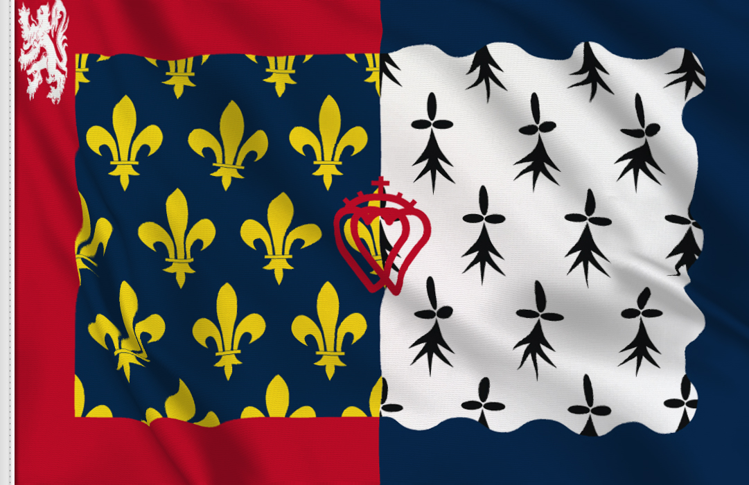 bandera adhesiva de Paises-del-Loira