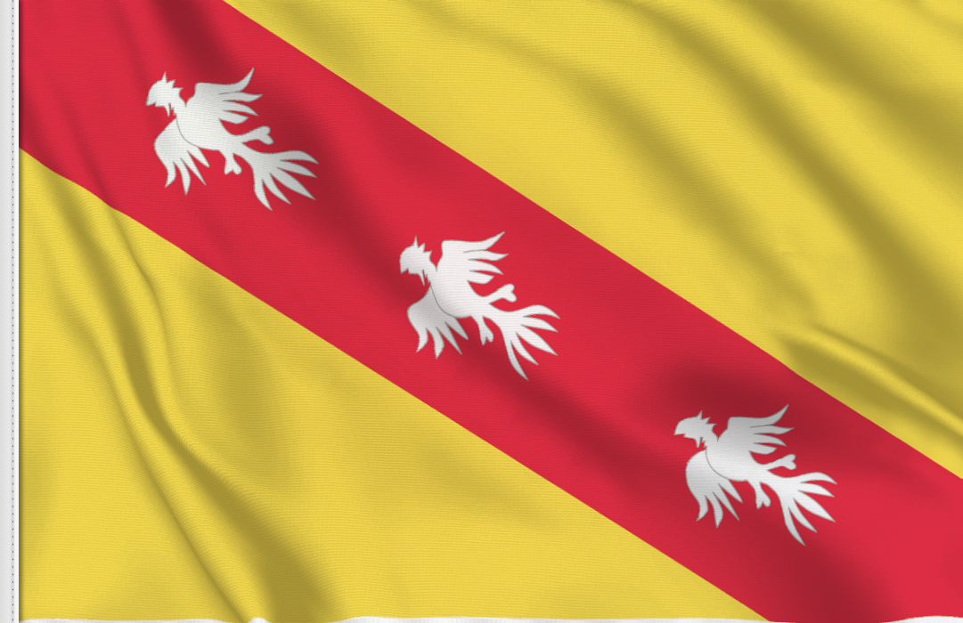 Lothringen aufkleber fahne