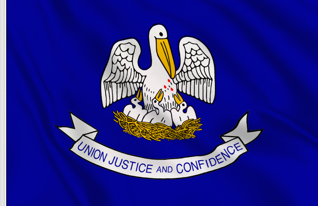 flag sticker of Louisiana