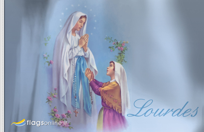 Our lady of Lourdes flag