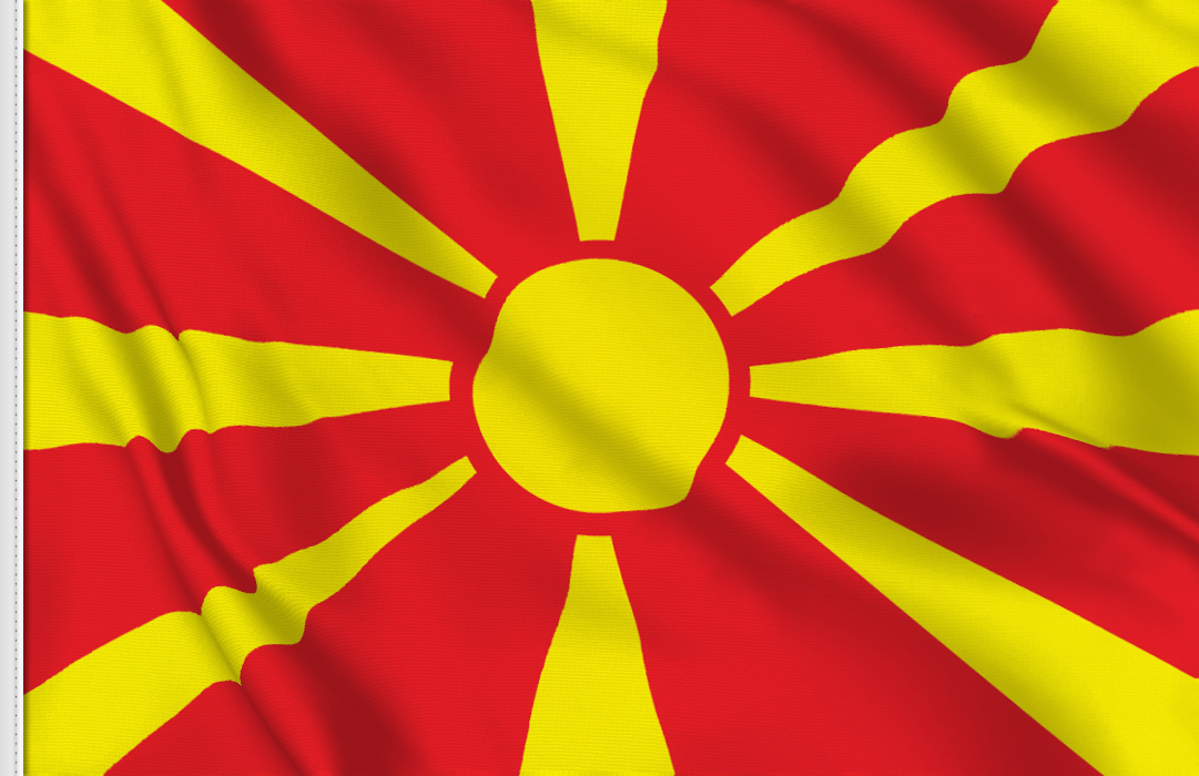 flag sticker of Macedonia