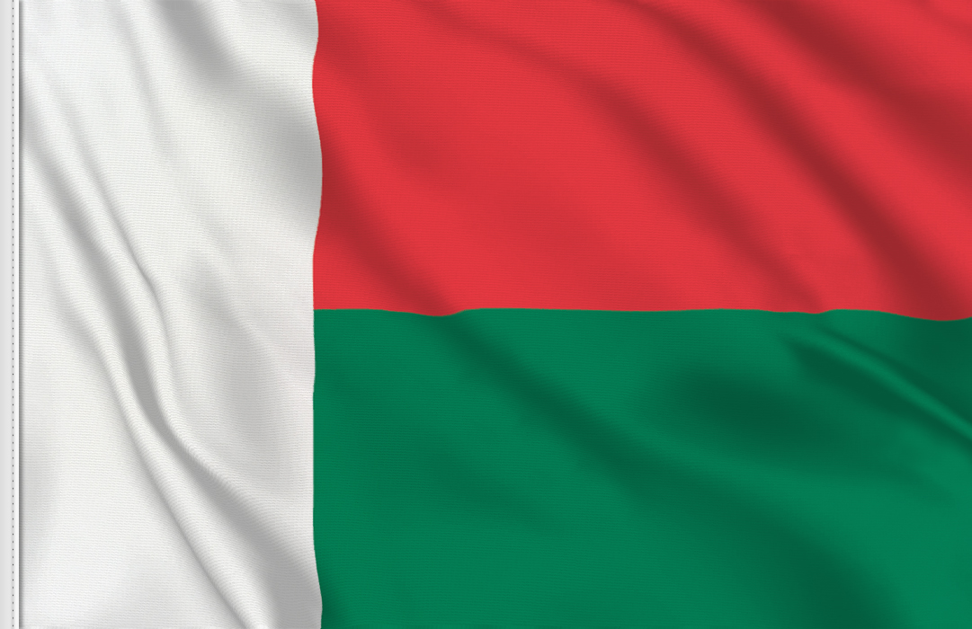 drapeau adhesif Madagascar
