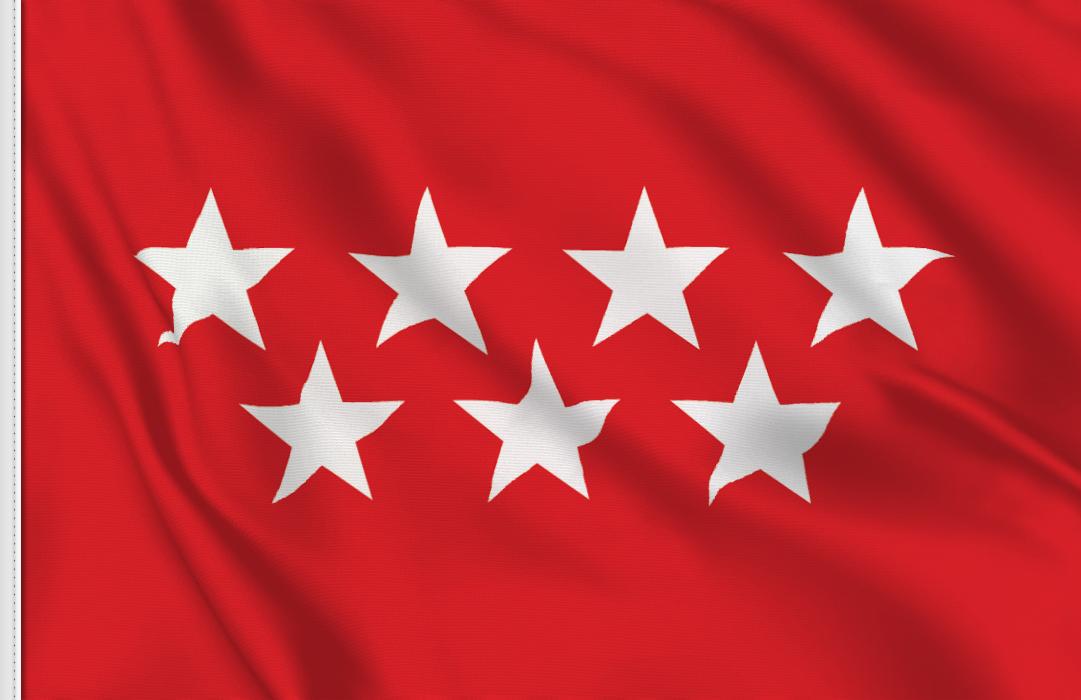 Flag sticker of madrid