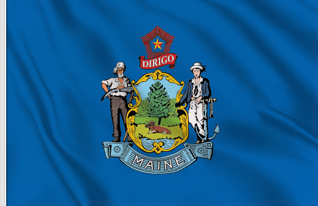 Flag sticker of Maine