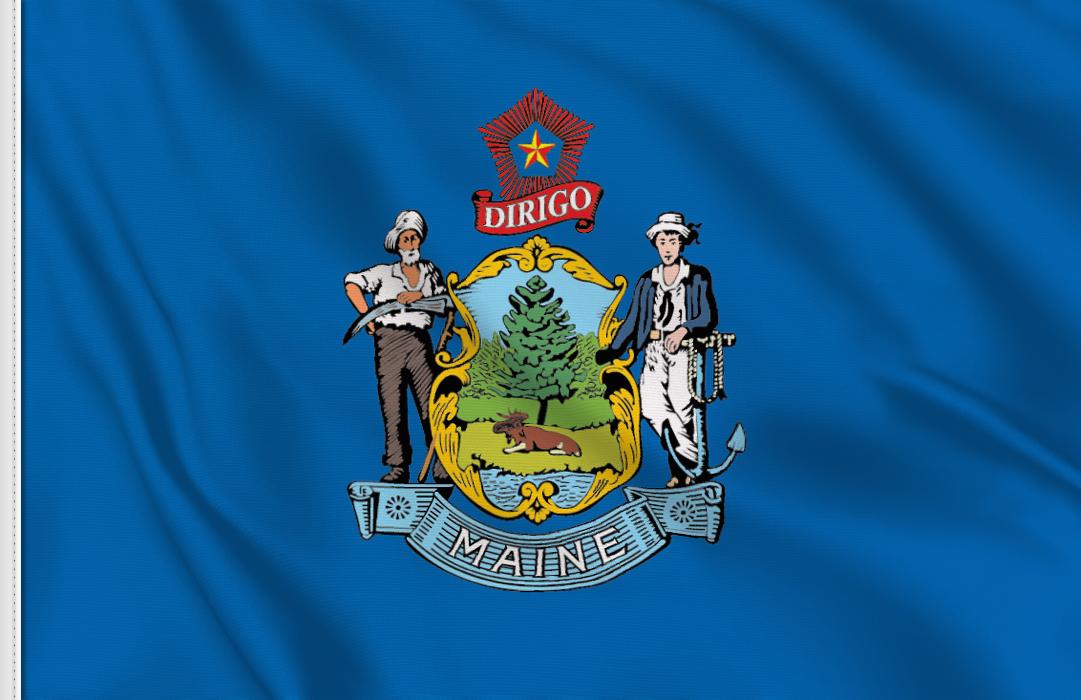 Maine Aufkleber, Autoaufkleber Flaggen von Maine