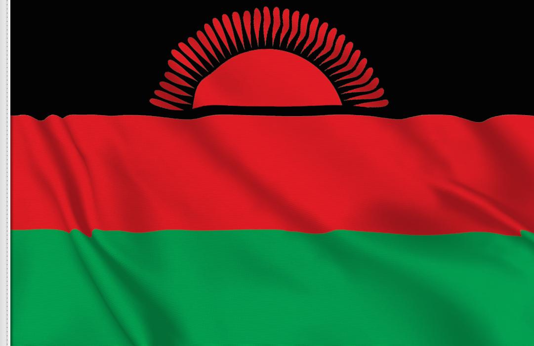 flag sticker of Malawi