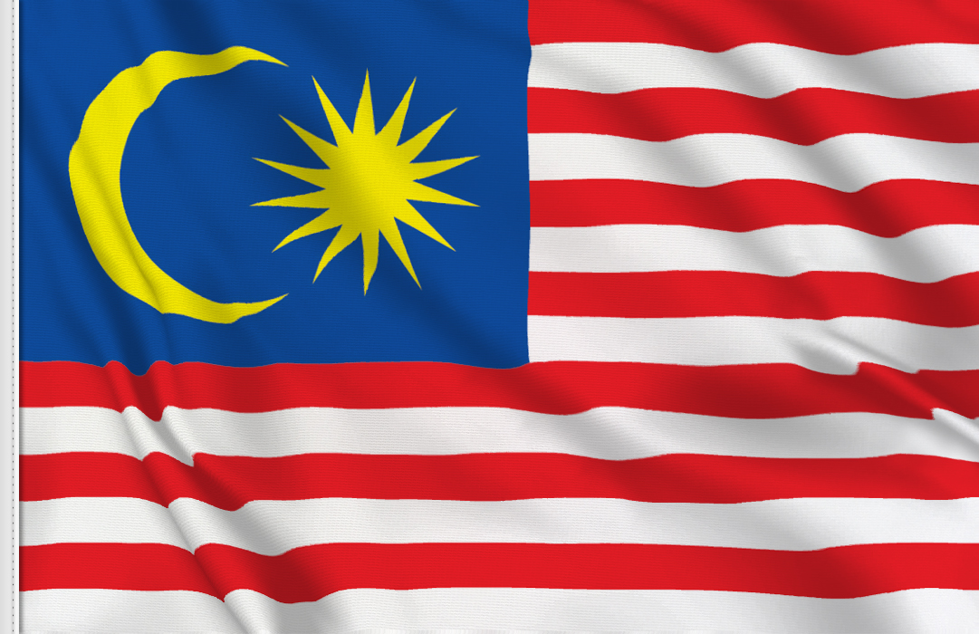 Malaysia aufkleber fahne
