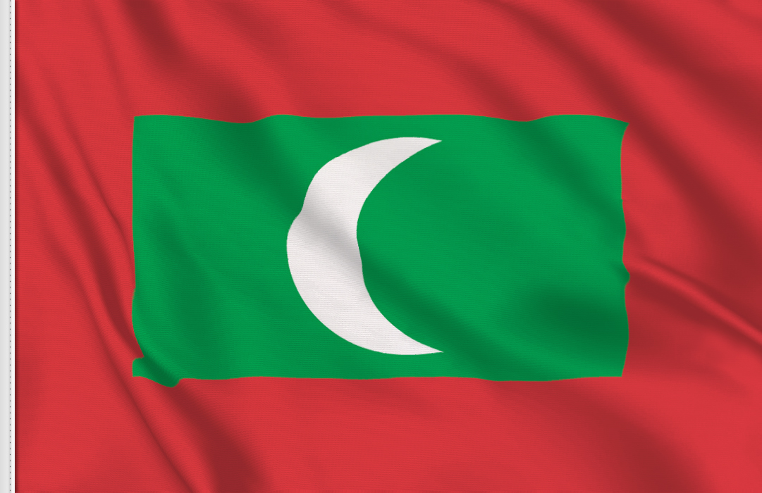 Flag sticker of Maldives
