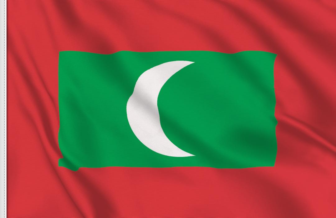 bandera adhesiva de Maldivas
