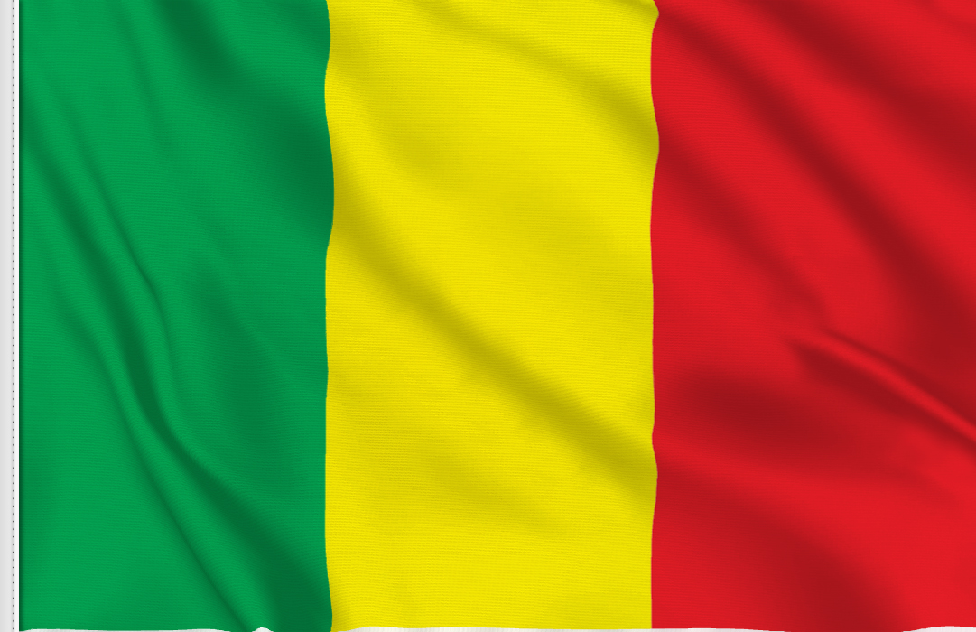 flag sticker of Mali