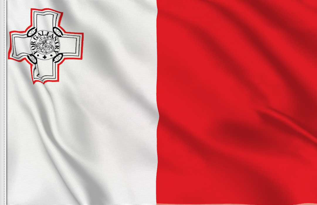 flag sticker of Malta