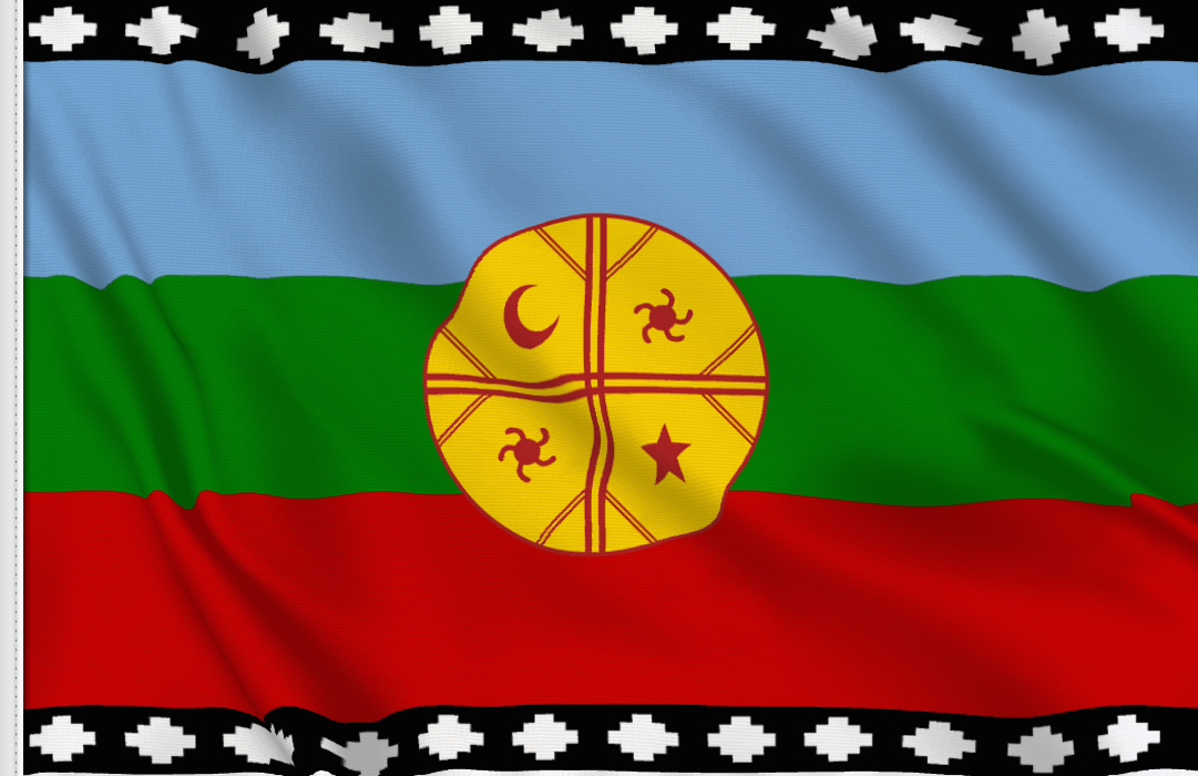 fahne Mapuche, flagge Wenufoye