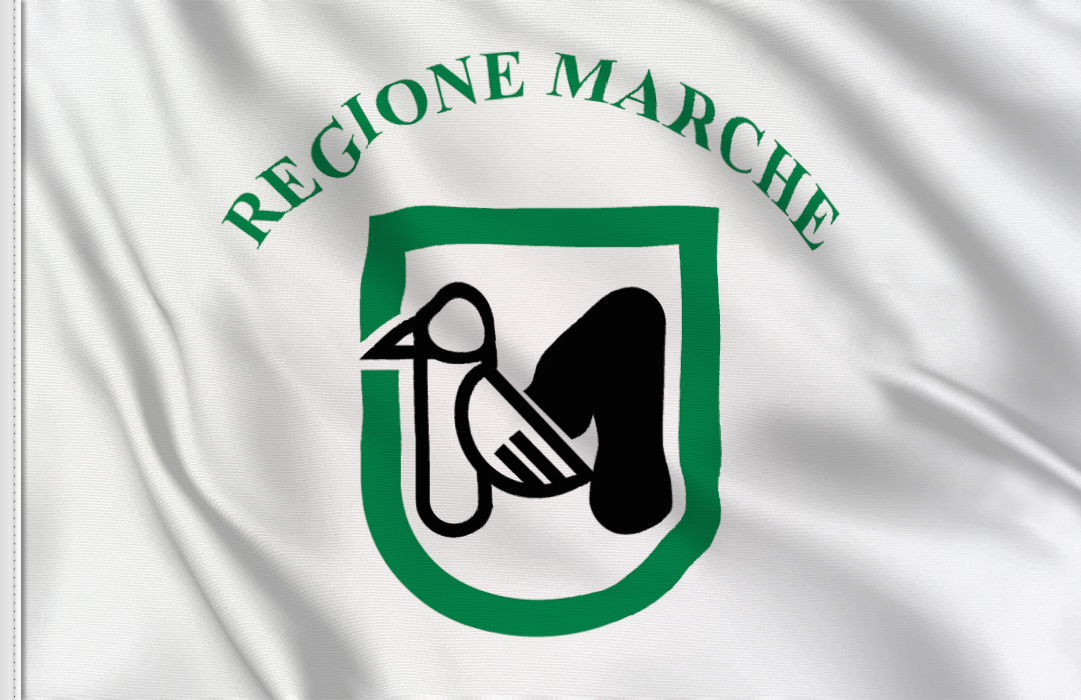 flag sticker of Marche